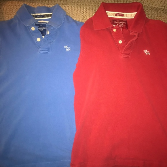 cab86d525 Abercrombie & Fitch Shirts | 2 Abercrombie Fitch S Muscle Polos ...